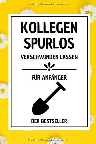 Kollegen Spurlos: 107 linierte Seiten Notizbuch A5 , Geschenkideen Chef Kellegin , büro geschenke | anti stress geschenke | Blumen softcover