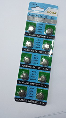 10 Pcs AG13/LR44 Button Cell Battery For Kids Toy Keychian