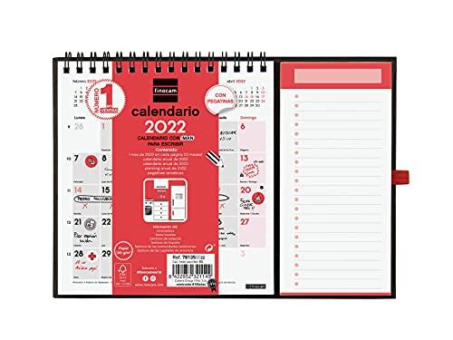 Finocam - Calendario 2022 para nevera Neutro con Imán para Escribir Español, 224x160 mm