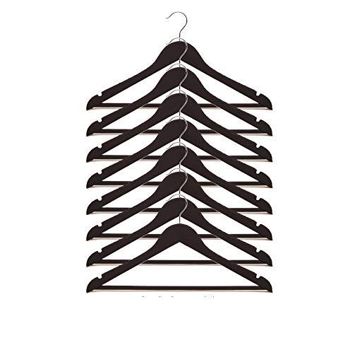 IKEA Bumerang Kleiderbügel aus Holz, 43,2 cm breit, Schwarz, 8 Stück