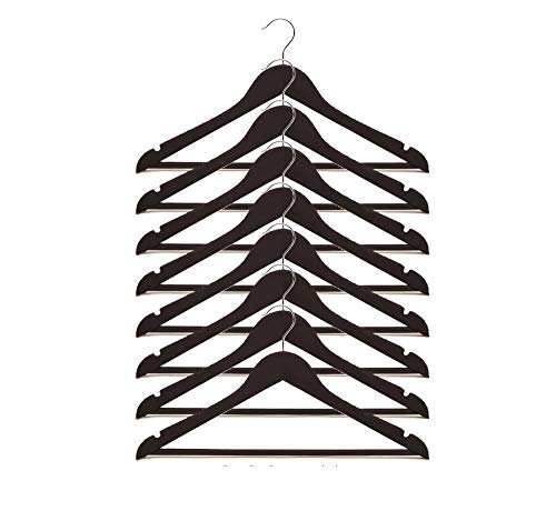 IKEA Bumerang Kleiderbügel aus Holz, 43,2 cm breit, 8 Stück, Schwarz