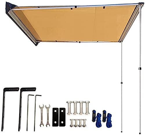 DANCHEL OUTDOOR Toldo lateral del coche para acampar SUV Trailer Offroad Gear Toldo Sombrilla Carpa Lona Caqui 2x3m