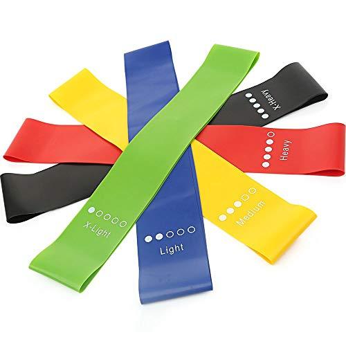 EYKERYE 5 Fitness Latex Resistance Bands, Non-slip Indoor Yoga Fitness Bands