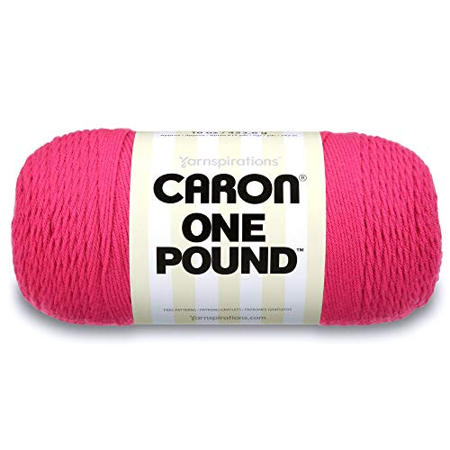 Caron One Pound Yarn, 16 Ounce, Dark Pink