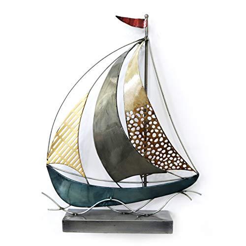 Montemaggi Bild aus Metall, 3D, Fischbranche, bunt, 122 x 47 x 4,5 cm
