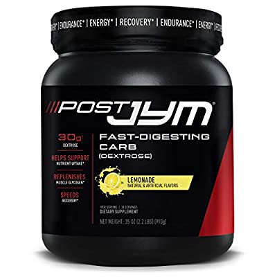 Post JYM Fast-Digesting Carb - Post-Workout Recovery Pure Dextrose   JYM Supplement Science   Lemonade Flavor, 30 Servings