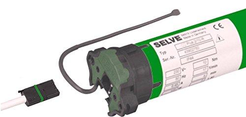 Selve® SEL-PLUS-RC 2/30 Funk-Rolladenmotor inkl. Einbruchschutz durch patentierte SecuBlock®, Motorlager, Anschlusskabel und SW 60 Adapter / Mitnehmer. (SEL Plus-RC 2/30 ohne SecuBlock)
