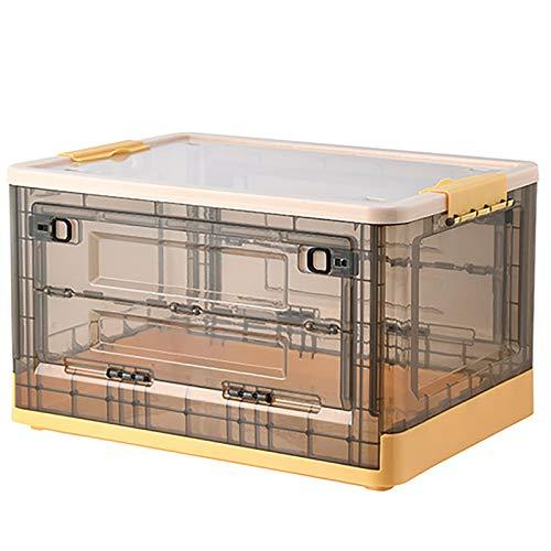 SUHETI Caja De Almacenamiento Plegable, Almacenamiento De Gran Capacidad, Caja De Almacenamiento, Caja De Almacenamiento Portátil De Plástico, Utilizada para Guardar Ropa, Juguetes, Mantas,Amarillo