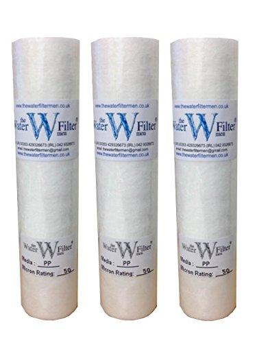 Cartucho de filtro de agua para sedimentos de 50 micras, 50 micras, paquete de 3