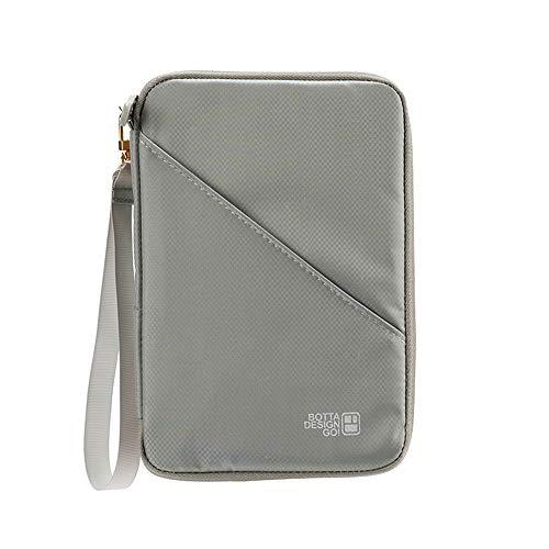 [rumiao] パスポートケース パスポートカーバー スキミング防止 トラベルウォレット 海外旅行 チケット 名刹入れ (グレー)