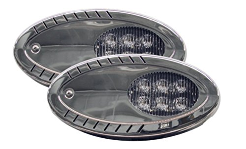 1 PAIR Marine Boat Trailer Docking LED Surface Mount Flood Spotlight High Lumens