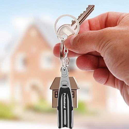 Llavero con aleta de regalo Llavero atractivo de alta calidad Ligero, para uso diario Organiza las llaves(gray)
