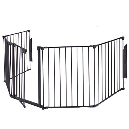 Ollypulse Steel Fireplace Fence Panel Hearth BBQ Grills Indoor Baby Pet Safety Gate
