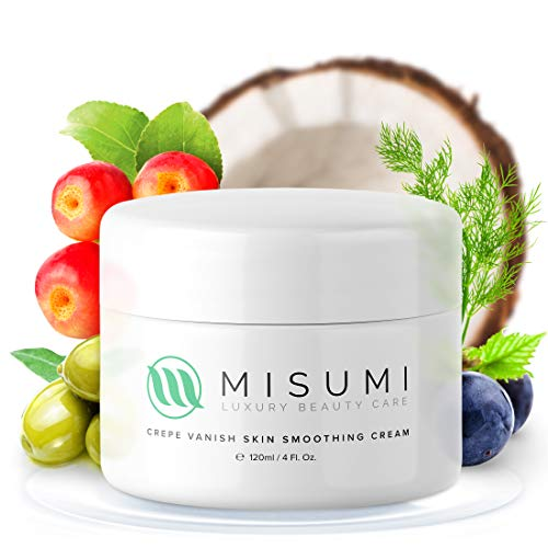 Misumi Skincare Crepey Skin Repair Treatment Cream - For Face, Neck, Arms & Legs - 4oz Tub - Erase Saggy Skin With Anti Wrinkle Crepe Formula - Anti Aging Body Firming Lotion for Loose Skin