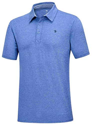 Rdruko Men's Shorts Sleeve Golf Shirts Dry-Fit Moisture Wicking Collared Polo Shirt(Dark Blue, US XL)