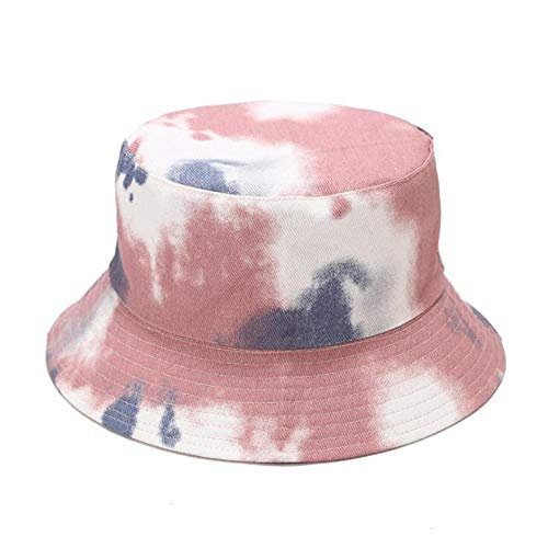 Bucket Hat Cotton Printing Two Sides Bucket Hat Fisherman Hat Outdoor Travel Hat Sun Cap Hats For Men And Women-Blue_56-58Cm