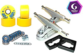 Glutier Set Surfskate Trucks T12 65mm 78a Yellow...