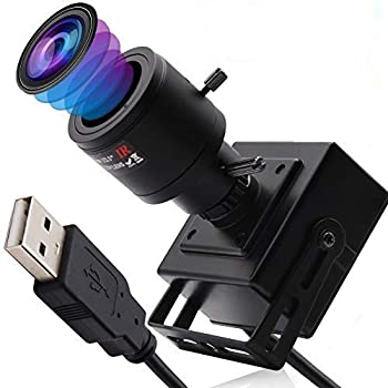 Varifocal Lens Usb Camera Full HD 2448P Usb Webcam Mini Camera,8 MP High Definition Usb with Cameras,USB2.0 Web Cameras,Plug&Play,2.8-12mm Varifocal Lens USB Cameras with UVC for Android Linux Windows