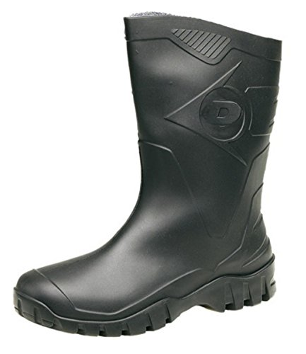 Famosa Dunlop 'DEE' media altura ancho pierna Wellies, color Negro, talla 42...