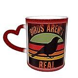 Birds Arent Real One Piece Magic Color Change Coffee Mug in The Sky, tazza in ceramica sensibile al calore