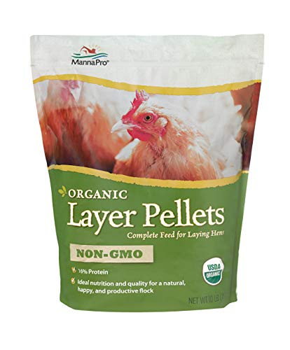 Manna Pro Organic Layer Pellets|Non-GMO & USDA Certified Organic|10 Pounds