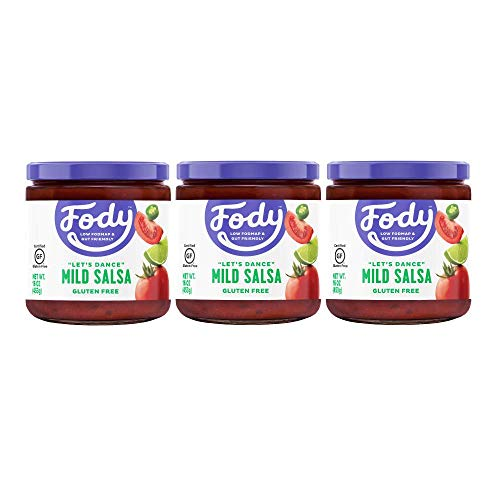 Fody Foods Vegan Mild Salsa Pack | Chunky Tomato Jalapeno Salsa | Low FODMAP Certified | Gut Friendly IBS Friendly Kitchen Staple | Gluten Free Lactose Free Non GMO | 3 Jars, 16 Ounces