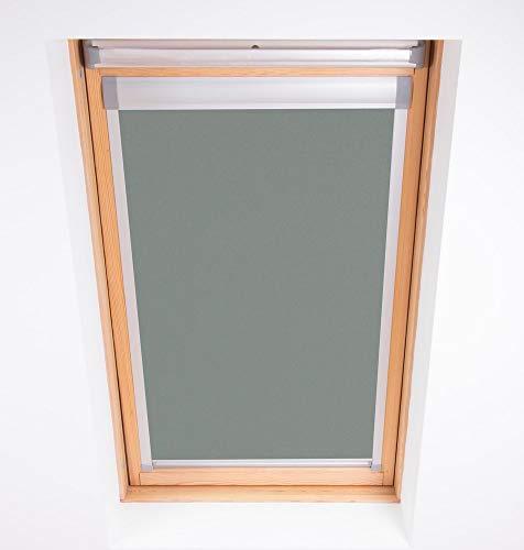 Bloc Skylight Rollo 1(55/78) für Fakro Dachfenster Blockout, Zinn