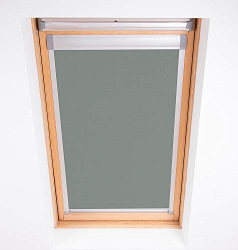 Bloc Skylight Rollo M6 A für Dakstra Dachfenster Blockout, Zinn