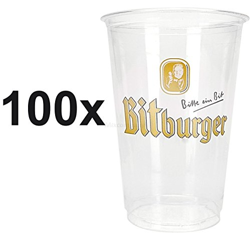 Bitburger Bier Becher Partybecher Plastikbecher - 60x 500ml