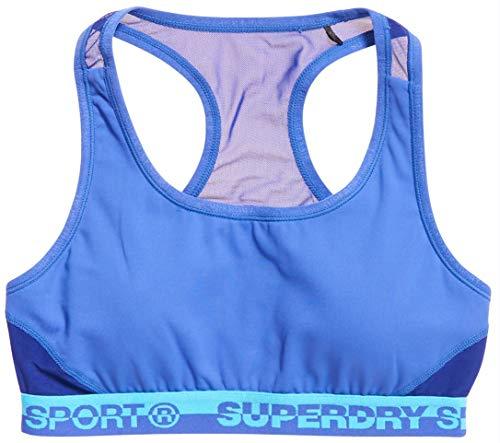 Superdry Damen CORE Layer Bra Sport-BH, Electric Blue, 34 DE