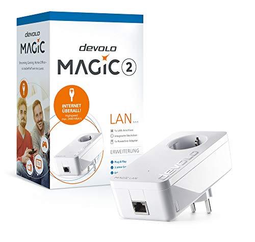 devolo Magic 2 LAN Ergänzungsadapter 1-1-1 (2400mbps Powerline + 1xLAN)