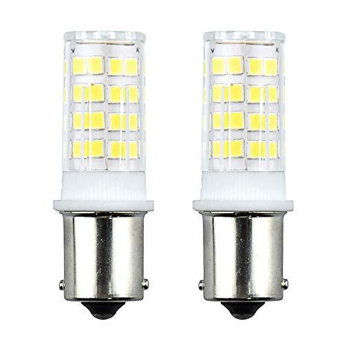 Bonlux 3.5W 12V P21W 1156 BA15S LED Bombilla con 350 Lumen 51 SMD 2835 para Iluminación Interior de Vehículos, Remolque, Barco (2-Unidades, Luz Fría 6000K)
