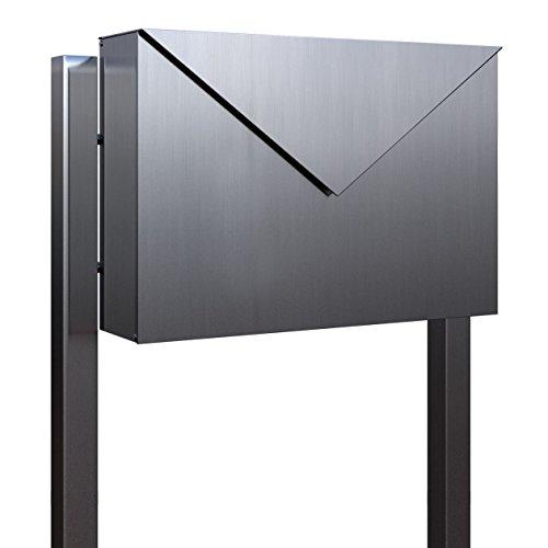 Standbriefkasten, Design Briefkasten Letter Edelstahl - Bravios