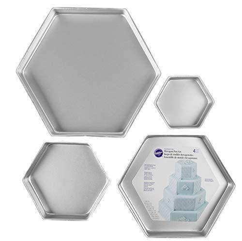 Wilton Performance Pans Hexagon Cake Pan Set, 4-Piece