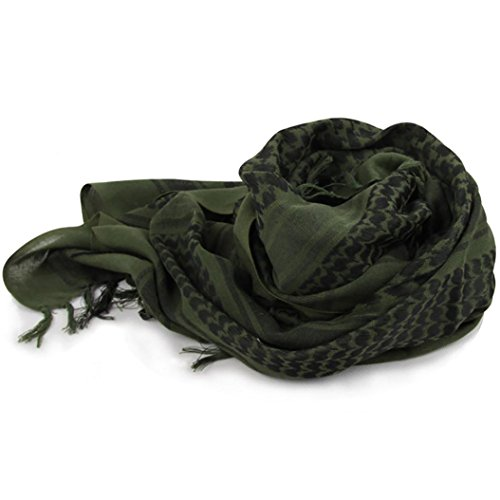 Hombres Militar neckerchiefs bufandas árabe Desierto táctico militar Keffiyeh Scarf Shawl, Verde ejército