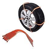 WEI-LUONG Cadena de neumáticos de arena 10pcs de coche universal Mini invierno Neumáticos de ruedas Cadenas de nieve for los...