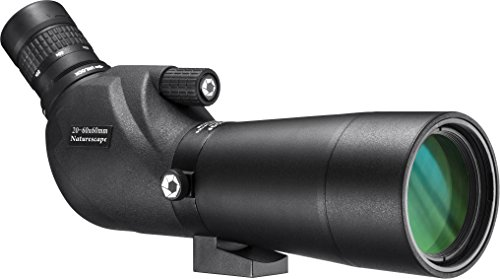 BARSKA AD12684 Naturescape 20-60x60 Waterproof Spotting Scope with Tripod & Case for Birding, Target Shooting, etc, Black
