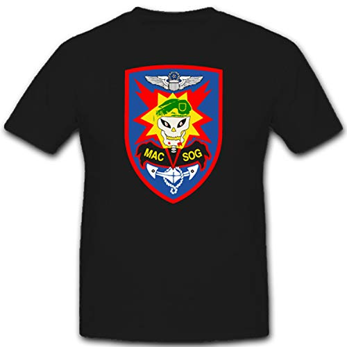 Military Assistance Command Vietnam – Studies and Observation Group MACV-SOG Spezialeinsatztruppe Vietnam Vietkong - T Shirt #1673, Farbe:Schwarz, Größe:Herren M