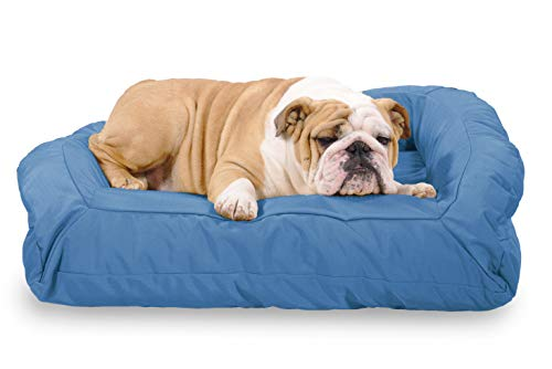K9 Ballistics Tough Bolster Nesting Medium Dog Bed - Washable, Durable and Waterproof Dog Beds - Made for Medium Dogs, 27'x33', Blue
