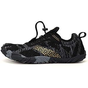 WHITIN Men's Cross-Trainer | Barefoot & Minimalist Shoe | Zero Drop | Wide Toe Box | Five Fingers | Gym Fitness Workout Trail Running | Male Black | Size 11