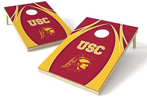 Wild Sports NCAA College USC Trojans 2' x 3' V Logo Cornhole Game Set
