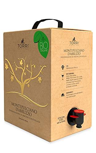 Vino rosso Bag in Box Montepulciano d'Abruzzo DOC Biologico 5 Litri