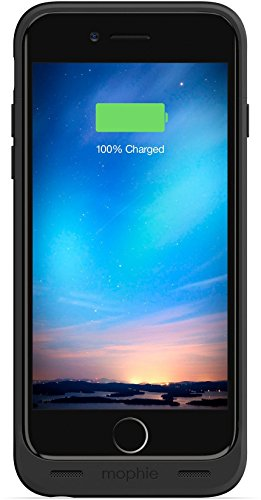 mophie Juice Pack Reserve - Lightweight and Compact Mobile Protective Battery Case compatible with iPhone 6/6s - Black (Renewed)