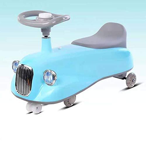 XJY Correpasillos Infantil Coche Corre Sentado Ride On Wiggle Swing Coche Swing Twist Car Gyro Swivel Kart Bebe Pedales Patinete Juguete Baby Niños Niña Pequeños Antivuelco