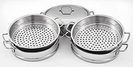 Dumpling Steamer Stainless Steel 6pc Oriental Uzbek Mantovarka ?????????? ????? (30cm)