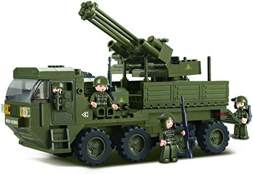 Sluban SL95128, Mobile Flak (306 Teile) [M38-B0302], Spielset , Klemmbausteine, Soldaten, mit Spielfigur, Army