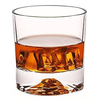 Whiskey Glasses - Premium 10 Ounce Scotch Glasses Set of 6 /Old Fashioned Whiskey Glasses/Style Glassware for Bourbon/Rum glasses/Bar Tumbler Whiskey Glasses