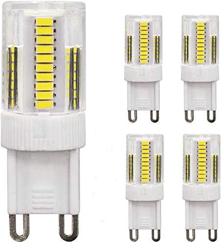 JFFFFWI Bombilla LED G9 2.5W Equivalente a 20W 25W 28W 33W Bombillas halógenas Bombillas de bajo Consumo G9 Base de Dos Clavijas 230V Sin Parpadeo 200-210LM para iluminación del hogar Luz Diurna no