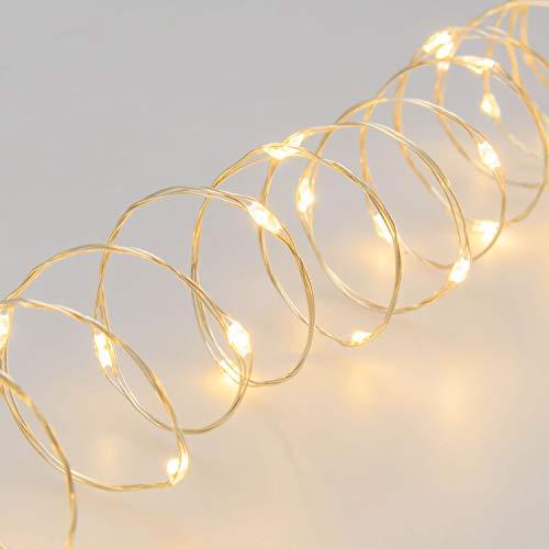 XMASKING Catena 600 MicroLED Bianco Caldo, Luce Fissa, 24V, Esterno, Cavo Metal Argento 4+30m