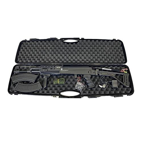 Kalashnikov Ak 47 Tactical Fucile Elettrico Da Softair AEG+Valigetta Rigida, Materiale Polimero/Metallo Colore Nero, Peso 3100g, Potenza 0,8J Caricatore 550 Pallini, Con Batteria e 2 Carica Batterie